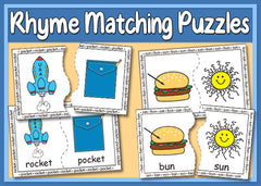 Rhyme Matching Puzzles - Version 1