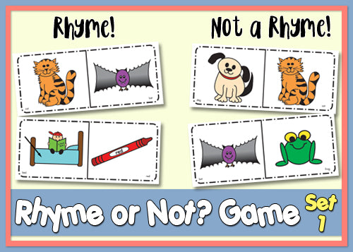graphic relating to Rhyming Games Printable named Rhyme or Not Activity Products 1 2