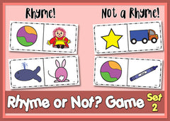 Rhyme or Not Game Versions 1 & 2