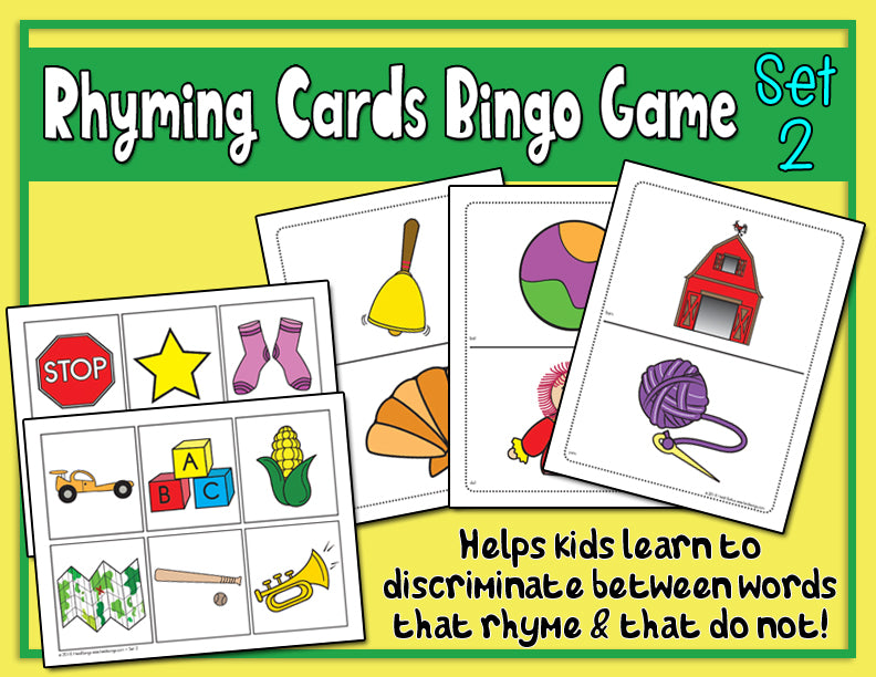 Rhyming Cards Activity & Bingo Game