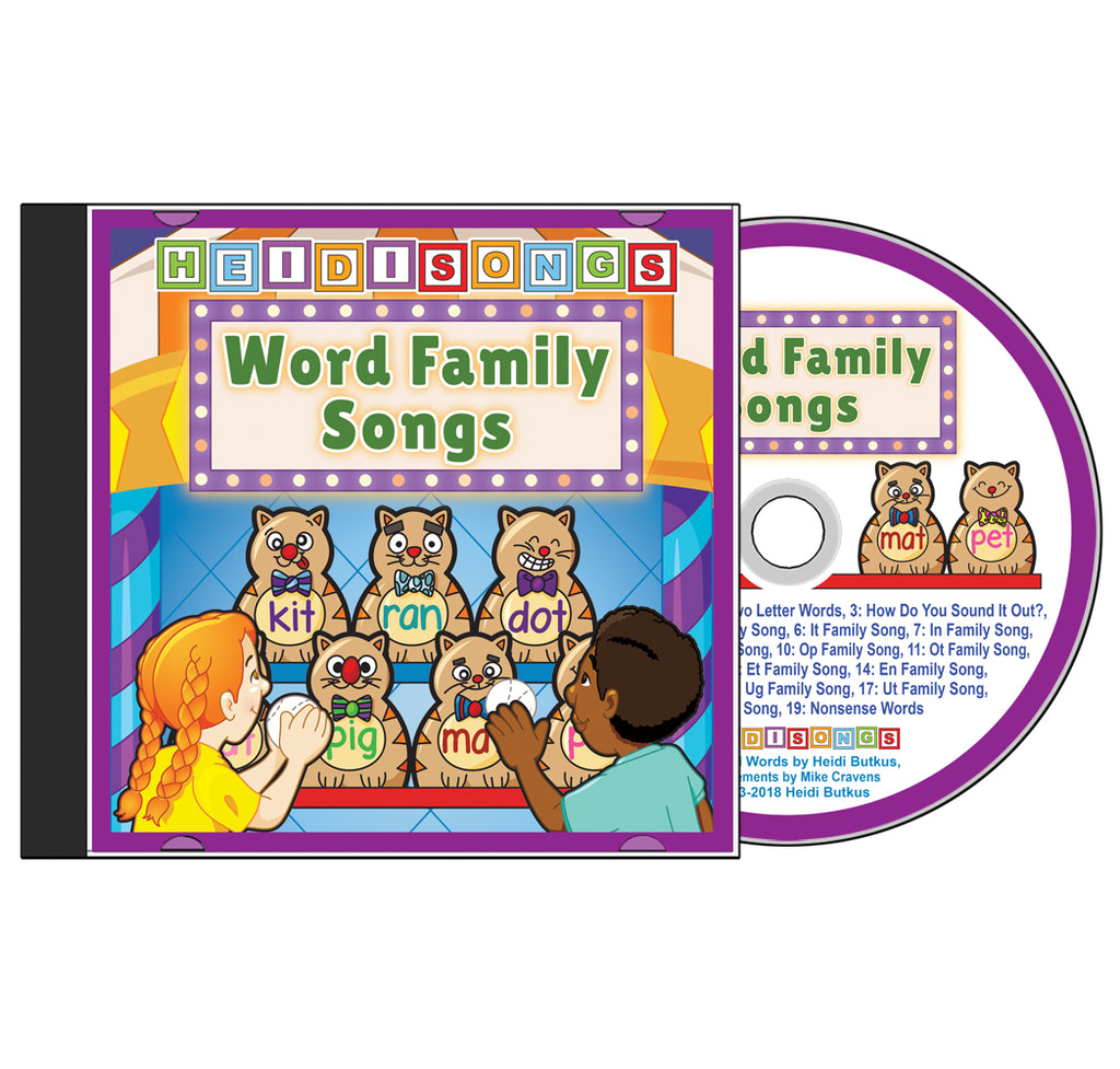 Sound Blending Songs for Word Families CD