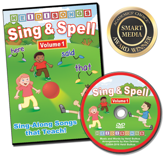 Heidi Songs: Sing & Spell the Sight Words - Volume 1 -  Animated DVD