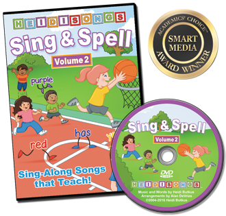 Heidi Songs: Sing & Spell the Sight Words - Volume 2 - Animated DVD