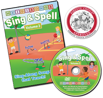 Heidi Songs: Sing & Spell the Sight Words - Volume 3 - Animated DVD