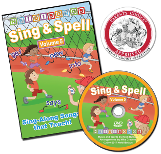 Heidi Songs: Sing & Spell the Sight Words - Volume 5 Animated DVD