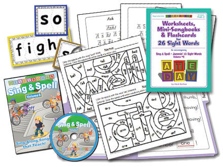 Sing & Spell the Sight Words - Volume 6 Animated DVD Premium Combo