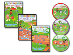 Sing & Spell Vol. 1-3 Animated DVD Collection