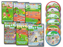 Sing & Spell Vol 1-6 Animated DVD Collection