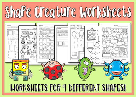 Heidi Songs: Shape Creatures Worksheets