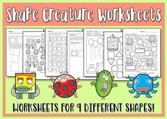 Shape Creatures Worksheets
