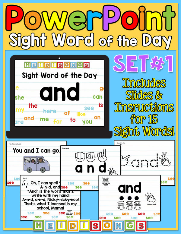 Sight Word of the Day For PowerPoint - Set 1