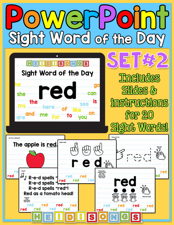 Sight Word of the Day For PowerPoint - Set 2