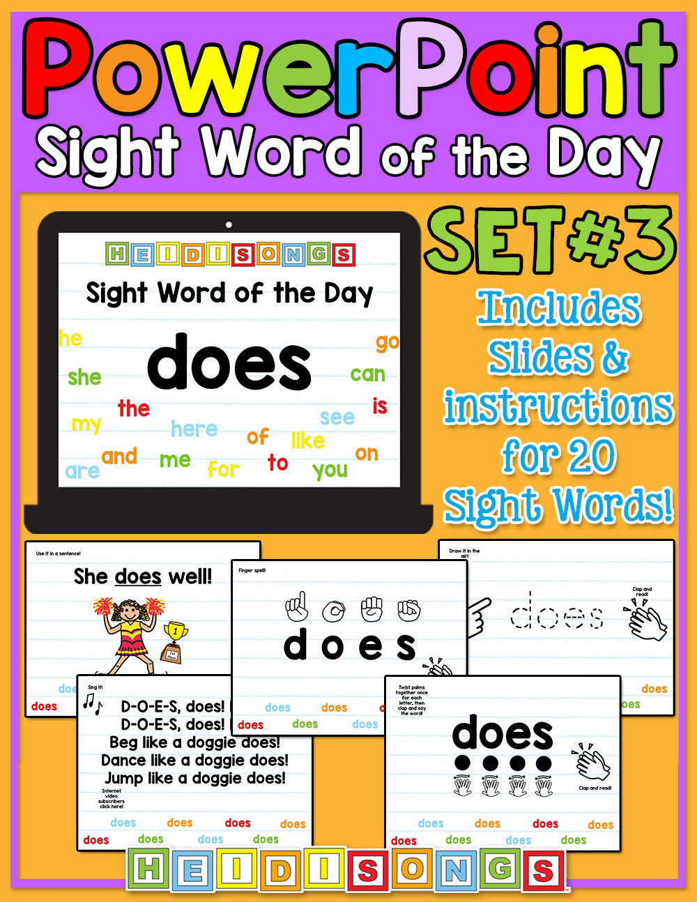 Sight Word of the Day For PowerPoint - Set 3