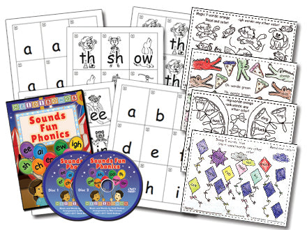 Sounds Fun Phonics Animated DVD - Basic Set