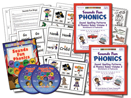 Sounds Fun Phonics Animated DVD - Premium Set