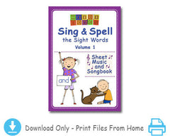 Sing & Spell Vol. 1 - Vocal Sheet Music & Songbook Download