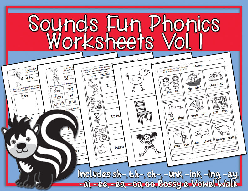 Sounds Fun Phonics Worksheets
