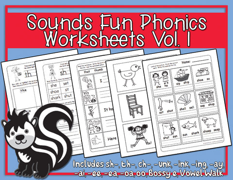 Heidi Songs: Sounds Fun Phonics Vol. 1 Worksheets