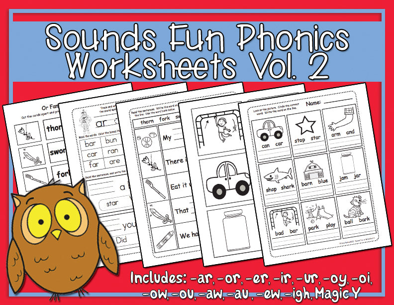 Sounds Fun Phonics Vol. 2 Worksheets