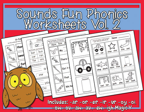 Heidi Songs: Sounds Fun Phonics Vol. 2 Worksheets