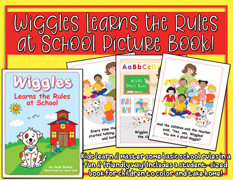 Heidi Songs: Wiggles Learns the Rules at School Picture Book