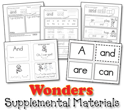 Wonders Sight Word Song Collection