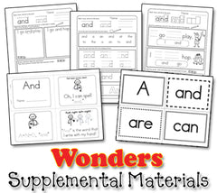 Wonders Kindergarten Sight Word Song Collection