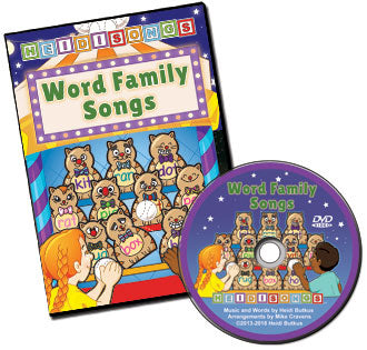 Word Family Songs Animated DVD