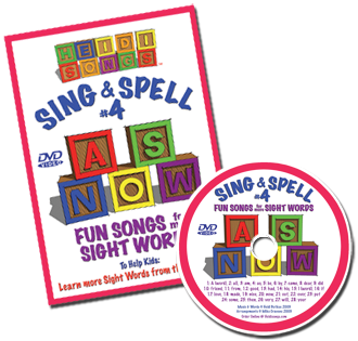 Heidi Songs: Sing & Spell the Sight Words - Volume 4 DVD