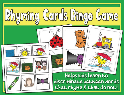 Heidi Songs: Rhyming Cards Activity and Bingo Game