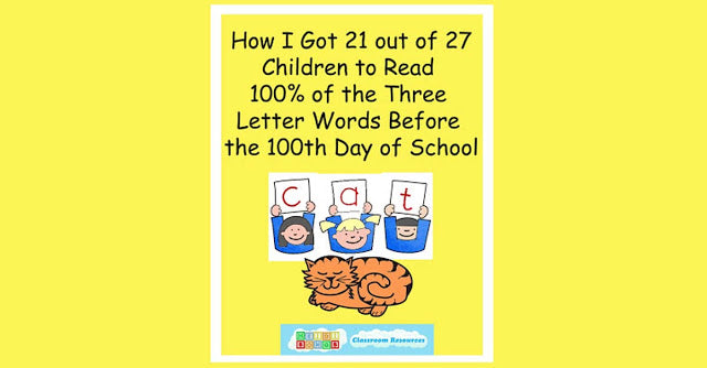 How I Got 21 Out of 27 Kids to Master 100% of their CVC Words in Kindergarten