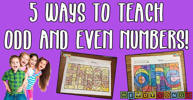 5 Ways to Teach Odd and Even Numbers!
