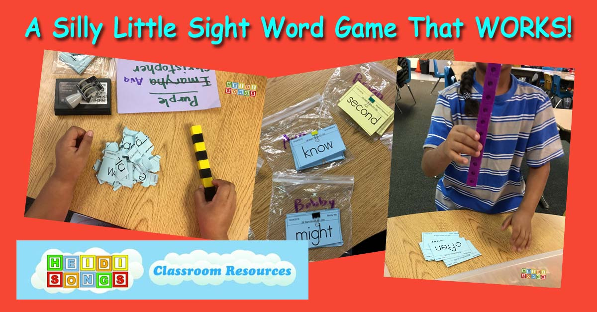 A Silly Little Sight Word Game That WORKS!