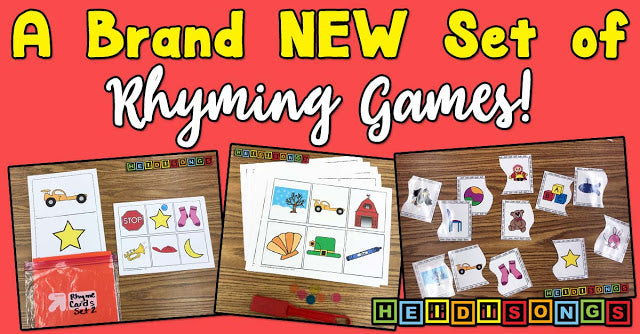 A Brand NEW Set of Rhyming Games!