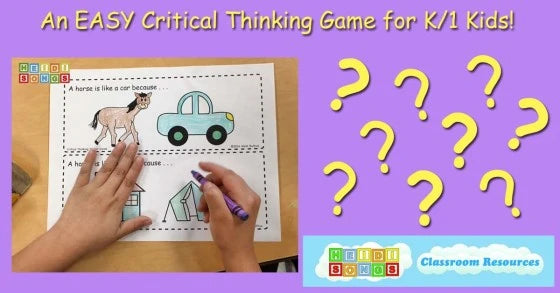An EASY Critical Thinking Game for K/1 Kids!