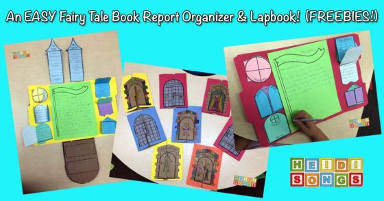 An Easy Fairy Tale Book Report Organizer & Lapbook!