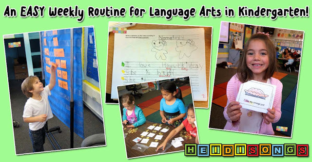 An EASY Weekly Routine for Language Arts in Kindergarten!