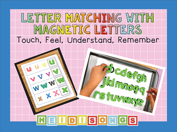 Cookie Sheet Alphabet Match with Magnetic Letters!