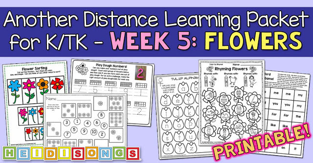 Another K/TK Distance Learning Packet - FLOWERS