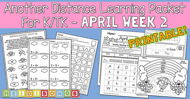 Distance Learning Packet: Rainbows & Weather!