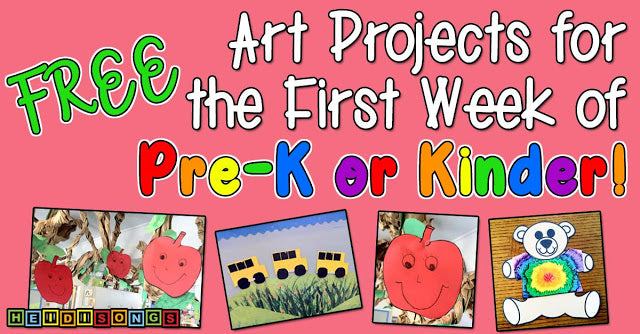 FREE Art Projects for the First Week of Pre-K or Kinder!