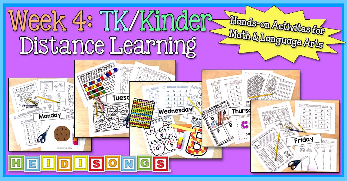Week 4: TK/Kinder Distance Learning Packets