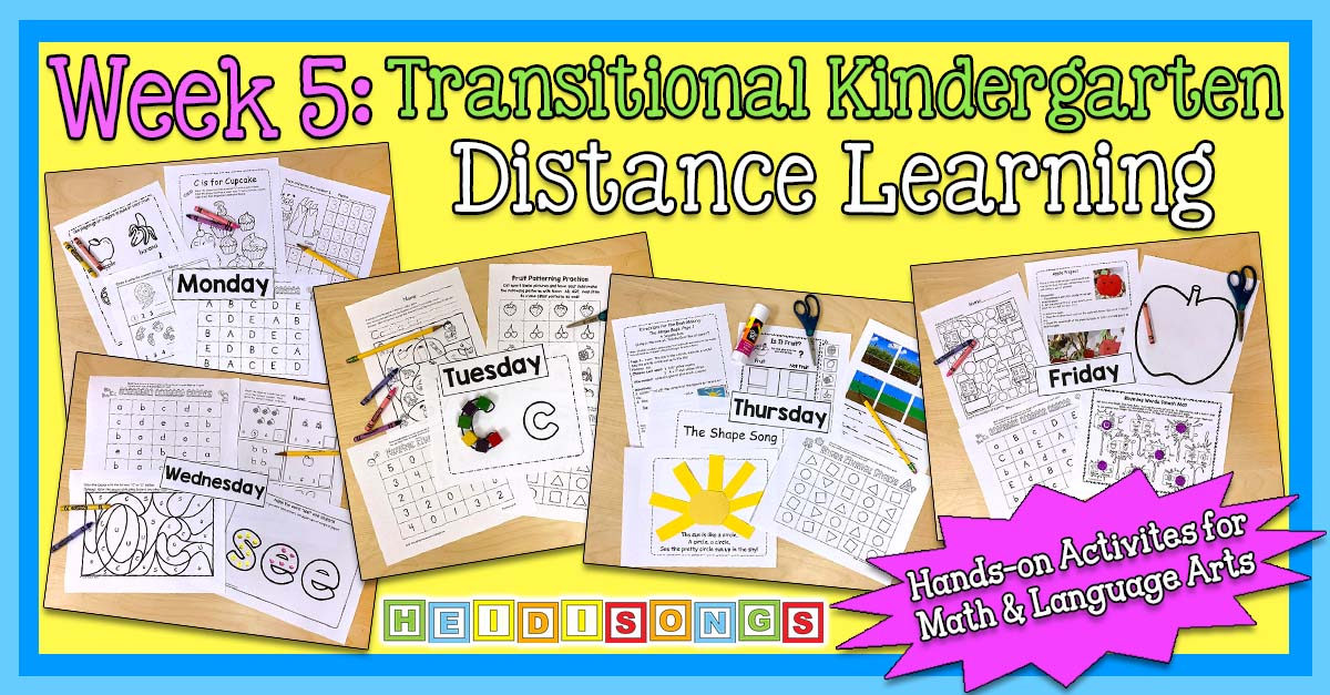 Fall WEEK 5 - TK/Kinder Distance Learning Packet! (NO PREP PRINTABLES!)