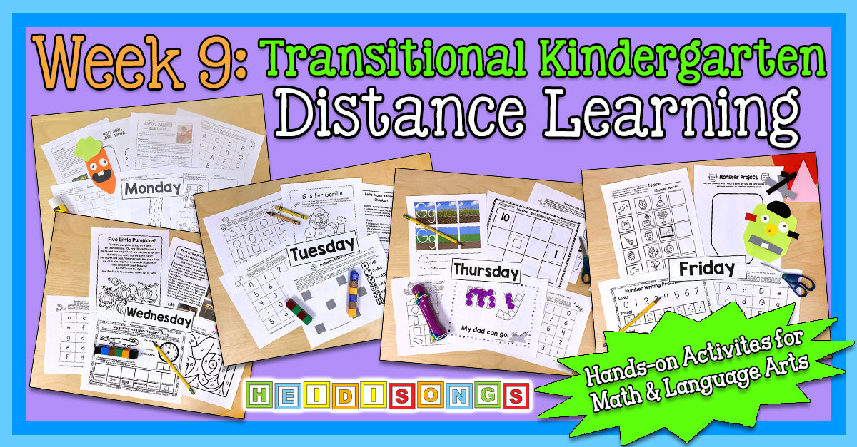 Fall WEEK 9 - TK/Kinder Distance Learning Packet! (NO PREP PRINTABLES!)