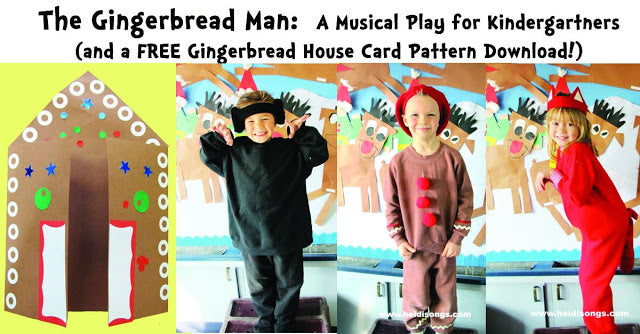 A Gingerbread House Card, A Paper Plate Angel, and The Gingerbread Man Play!