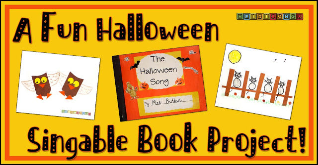 A FUN Halloween Singable Book Project!