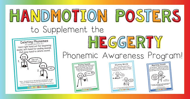 Handmotion Posters to Supplement the Heggerty Phonemic Awareness Program!