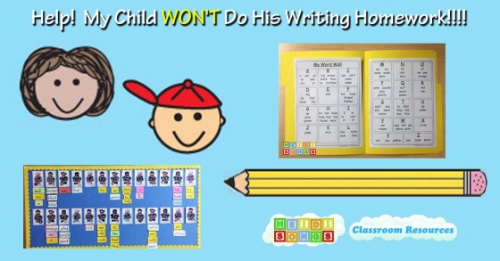 Help! My Child WON'T Do His Writing Homework!!!!