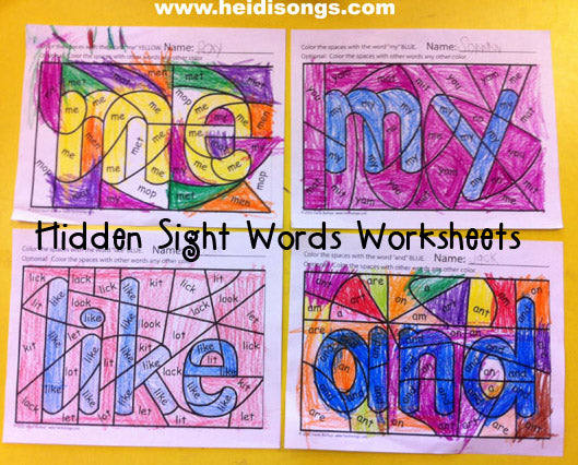 Hidden Sight Word Coloring Worksheets (Freebie Alert!)