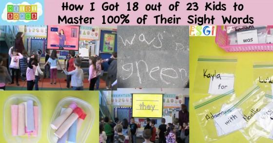 How I Got 18 out of 23 Kids to Master 100 of Their Sight Words